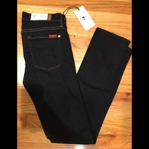 7 for all mankind dark blue jeans size 27